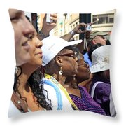 A View Of Some People Enjoying The 2009 Cleansing Of 46th Street Throw Pillow