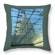 A View Of The Capitol From The Visitor Center Throw Pillow