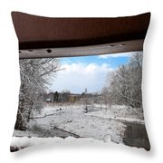 A View Of The Maunesha In A Fresh Blanket Of Snow Throw Pillow