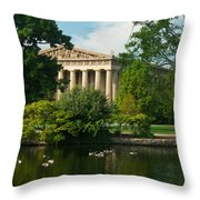 A View Of The Parthenon 17 Throw Pillow by Douglas Barnett