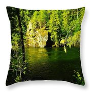 A View Of The Seleway River Throw Pillow