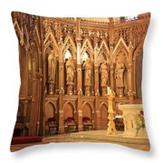 A View Of The St. Patrick Old Cathedral Altar Area Throw Pillow