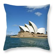A View Of The Sydney Opera House Throw Pillow