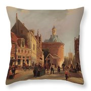 A View Of The Zuiderspui Throw Pillow