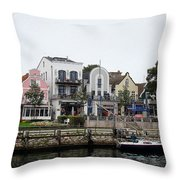 A View Of Warnemunde Germany Throw Pillow