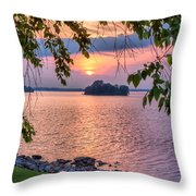 A View To A Sunset Throw Pillow