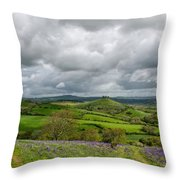 A View To Colmer's Hill Throw Pillow