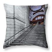 A View To The Mcgraw Rotunda Nypl Throw Pillow
