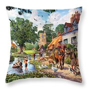 A Village In Summer Throw Pillow