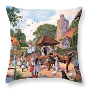 A Village Wedding Throw Pillow
