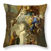 A Vision Of The Trinity Throw Pillow