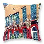 A Visit To New Orleans Throw Pillow
