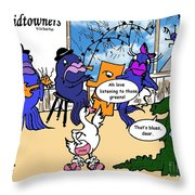 A Visit To The Blues Bar Throw Pillow