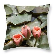 A Visitor To The Pond Throw Pillow