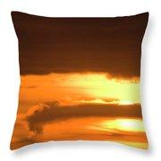 A Vocano Erupts In Kachemak Bay Throw Pillow