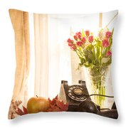 A Voice From The Past Throw Pillow