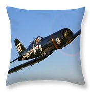A Vought F4u-5n Corsair Aircraft Throw Pillow