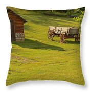 A Wagon   Let's Work Throw Pillow