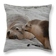 A Wake Up Kiss Throw Pillow