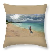 A Walk At Tumon Bay Guam Throw Pillow
