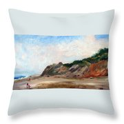 A Walk Down Cahoon Hollow Beach Throw Pillow