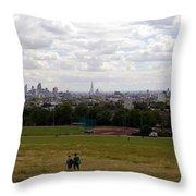 A Walk In London Throw Pillow