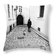A Walk In Prague Throw Pillow