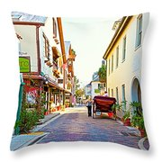 A Walk In St Augustine Throw Pillow by Michelle Wiarda