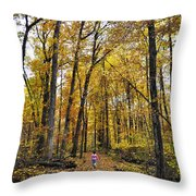 A Walk In The Dune Land Forest Throw Pillow