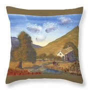 A Walk In The Hills Throw Pillow