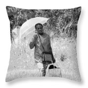 A Walk In The Sun Throw Pillow