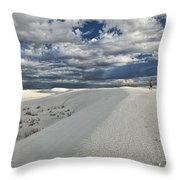 A Walk On The Dunes Throw Pillow