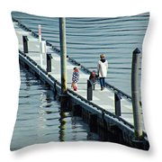 A Walk On The Pier Throw Pillow
