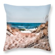 A Walk Out To The Water Throw Pillow