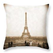 A Walk Through Paris 5 Throw Pillow