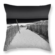 A Walk To The Sea Throw Pillow