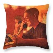 A Warm Smile Throw Pillow