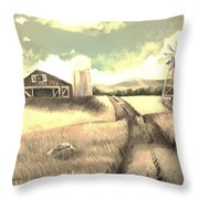 A Warm Welcome Antique Throw Pillow