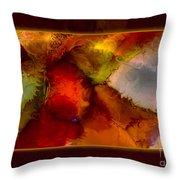 A Warrior Spirit Abstract Healing Art Throw Pillow