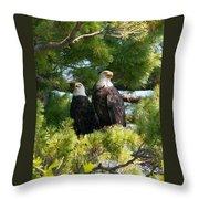 A Watchful Pair Throw Pillow