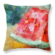 A Watermelon Throw Pillow