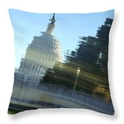 A Watery Capitol Throw Pillow
