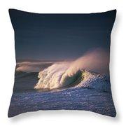 A Wave Breaks At Ziolkouski Beach Throw Pillow