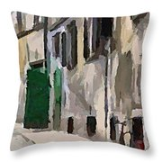 A Way To The Castle Throw Pillow