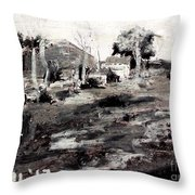 A Wayside By George Bruestle Throw Pillow