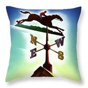 A Weather Vane Throw Pillow