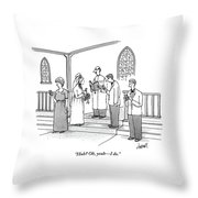 A Wedding Is Happening And Everyone Throw Pillow