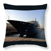 A Weekend Boat Throw Pillow