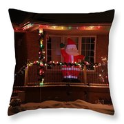 A Welcome From Santa Throw Pillow