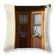A Welcoming Door Throw Pillow